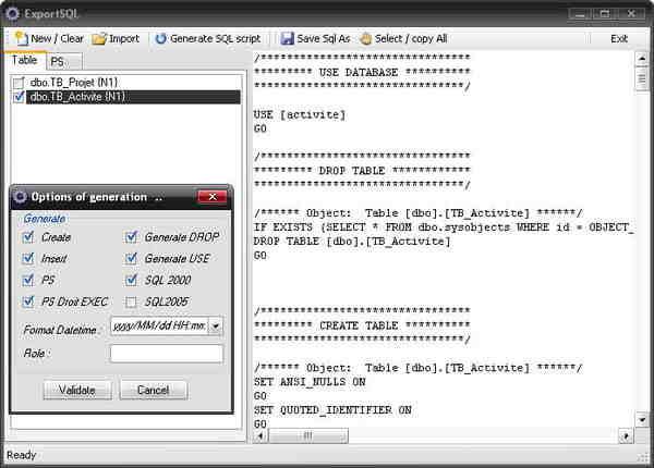 Comment exporter une table SQL Server ?