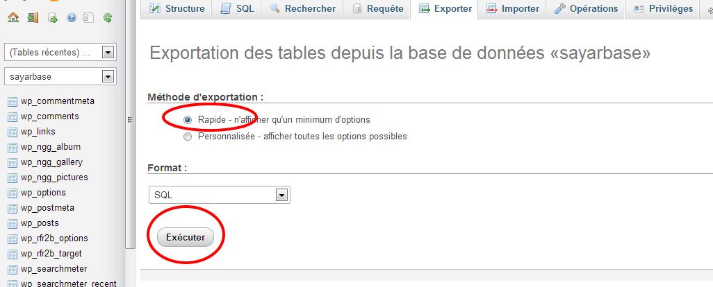 Comment importer une base de données ?
