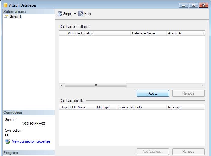 Comment importer une base de données SQL Server ?