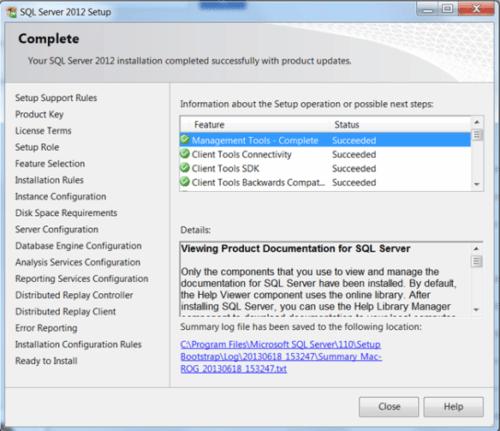 Comment installer MS SQL Server 2012 ?
