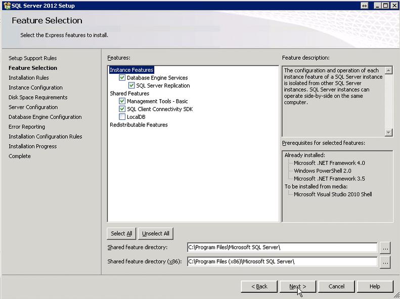 Comment installer MS SQL Server 2012?