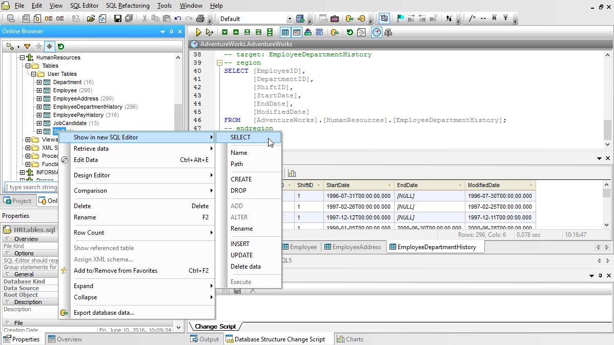 Comment renommer une table en SQL?