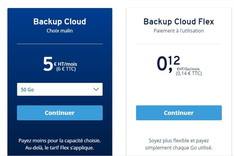 tarifs ionos backup cloud