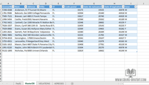 Excel gratuit